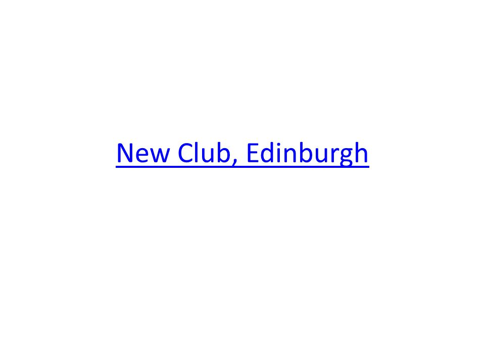 New Club, Edinburgh
