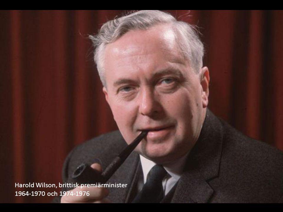 Harold Wilson, brittisk premiärminister 1964-1970 och 1974-1976