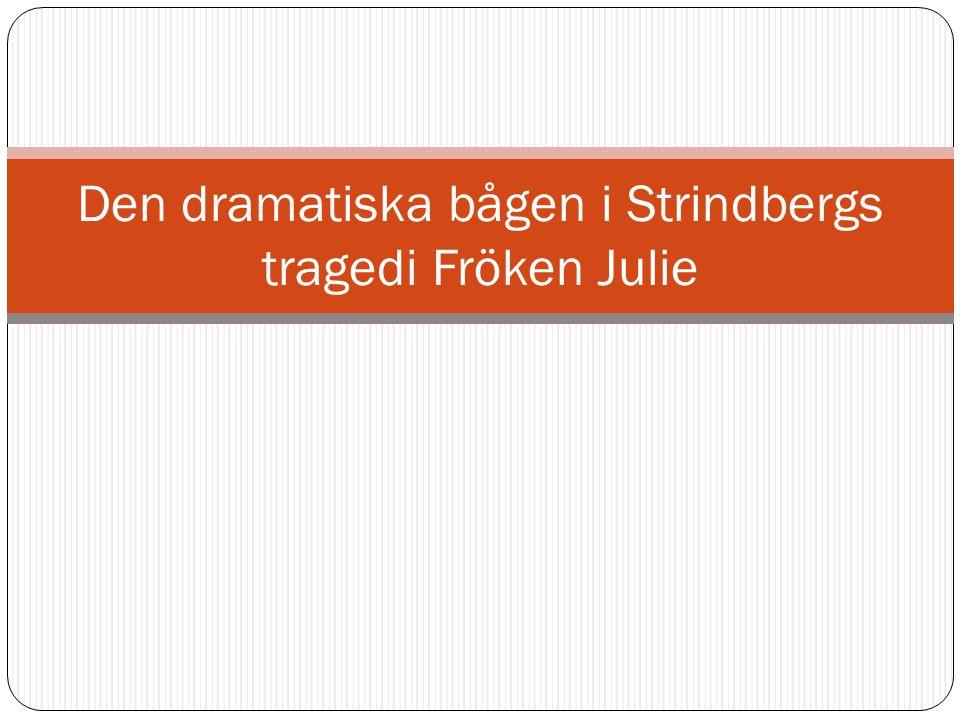 Den dramatiska bågen i Strindbergs tragedi Fröken Julie