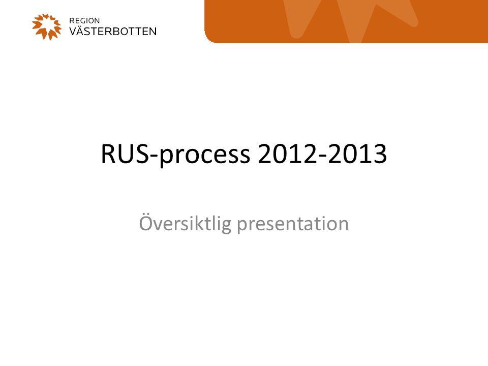 RUS-process 2012-2013 Översiktlig presentation
