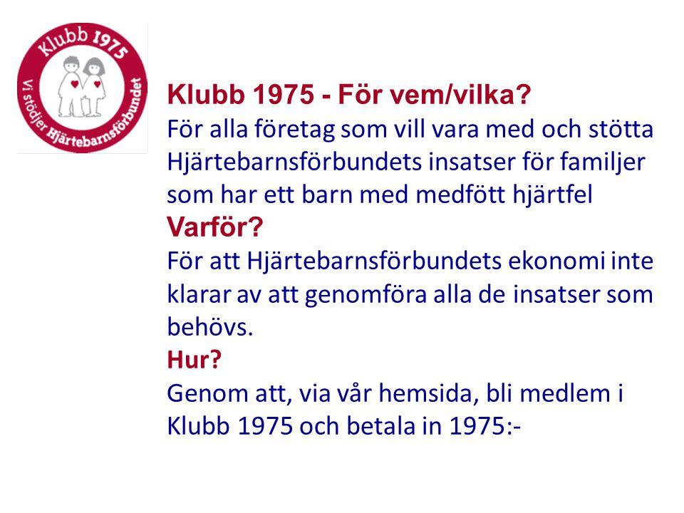 Klubb 1975 - För vem/vilka.