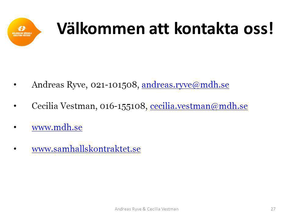 Välkommen att kontakta oss.
