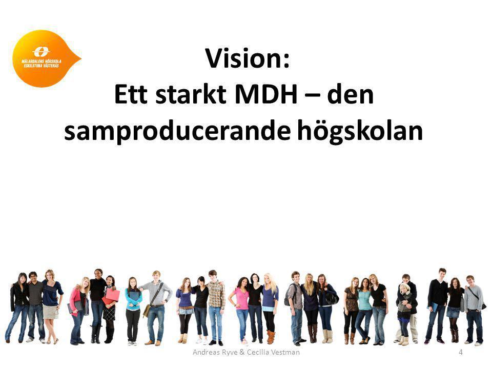 Vision: Ett starkt MDH – den samproducerande högskolan Andreas Ryve & Cecilia Vestman4