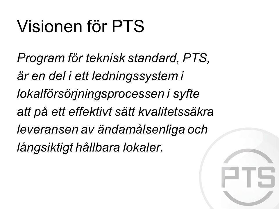Visionen för PTS Program för teknisk standard, PTS, är en del i ett ledningssystem i lokalförsörjningsprocessen i syfte att på ett effektivt sätt kval