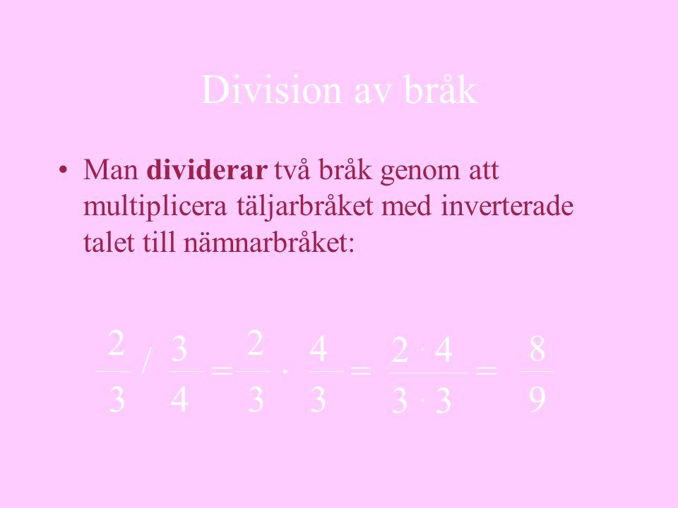 Decimaltal •Ett decimaltal är faktiskt en form av bråk •De kallas decimalbråk •Bråk med nämnaren 10, 100 eller1 000, o.s.v.
