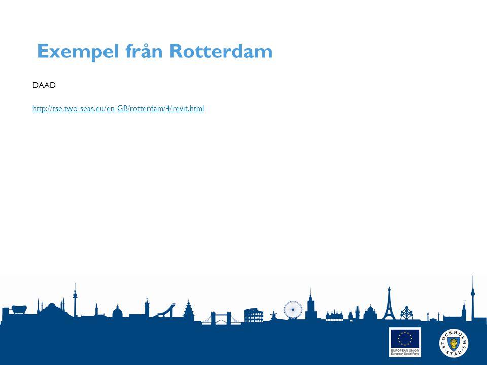 Exempel från Rotterdam DAAD http://tse.two-seas.eu/en-GB/rotterdam/4/revit.html SIDAN 10
