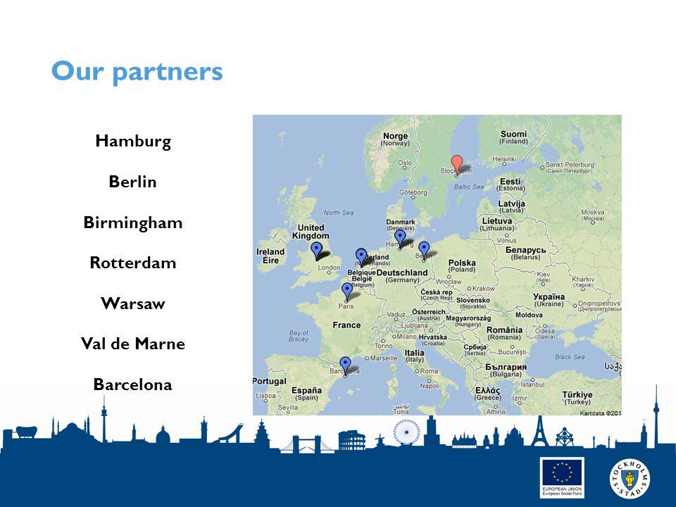 Our partners SIDAN 5 Hamburg Berlin Birmingham Rotterdam Warsaw Val de Marne Barcelona