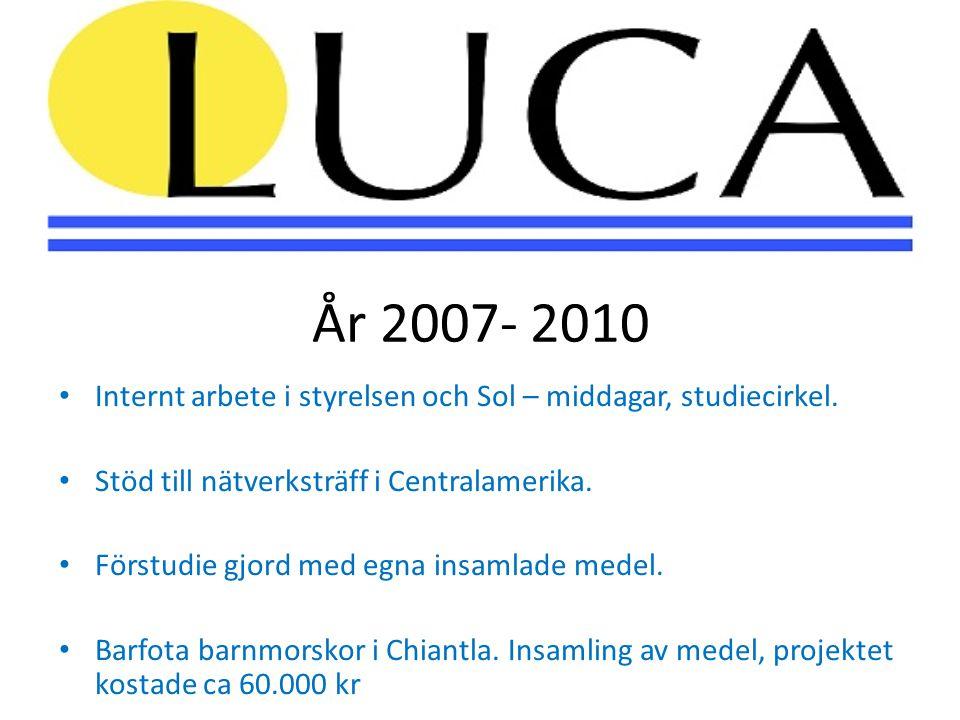 År 2007- 2010 • Internt arbete i styrelsen och Sol – middagar, studiecirkel.