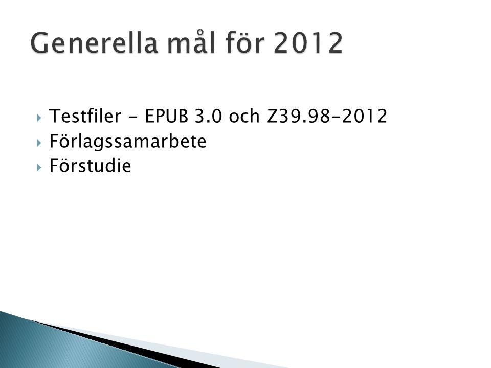  Exempelfiler - EPUB 3.0 och Z39.98-2012  Förlagssamarbete  Internutredning