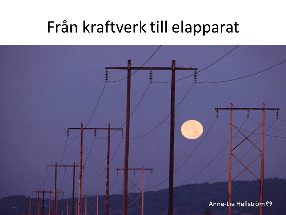 Från kraftverk till elapparat Anne-Lie Hellström 