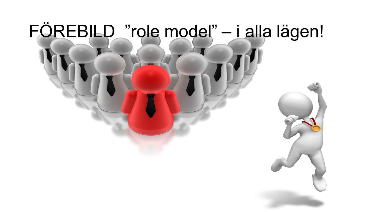 FÖREBILD role model – i alla lägen!