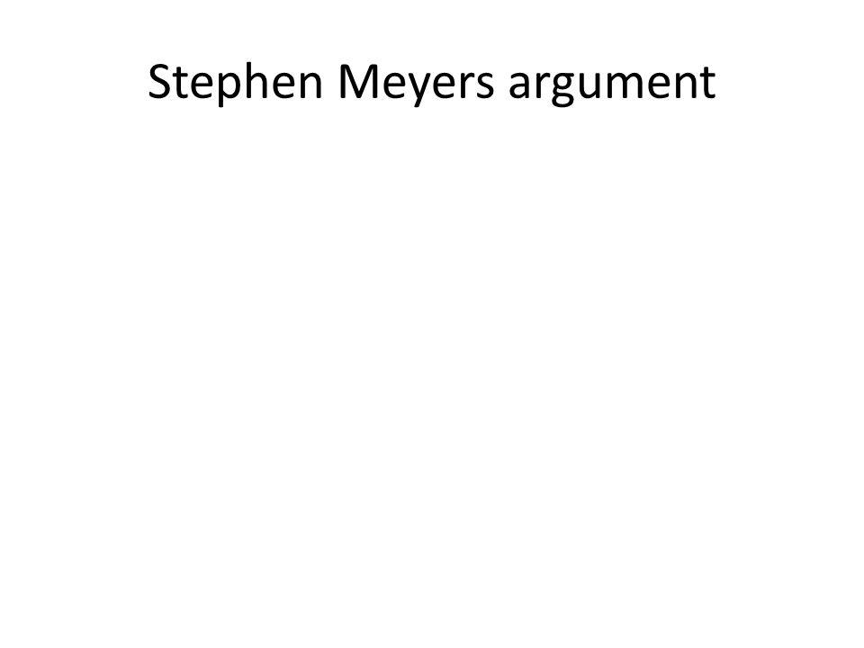 Stephen Meyers argument