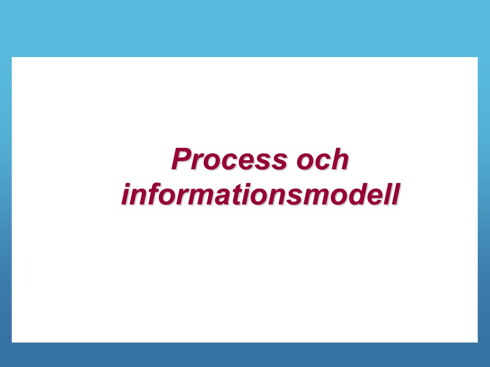 Process och informationsmodell
