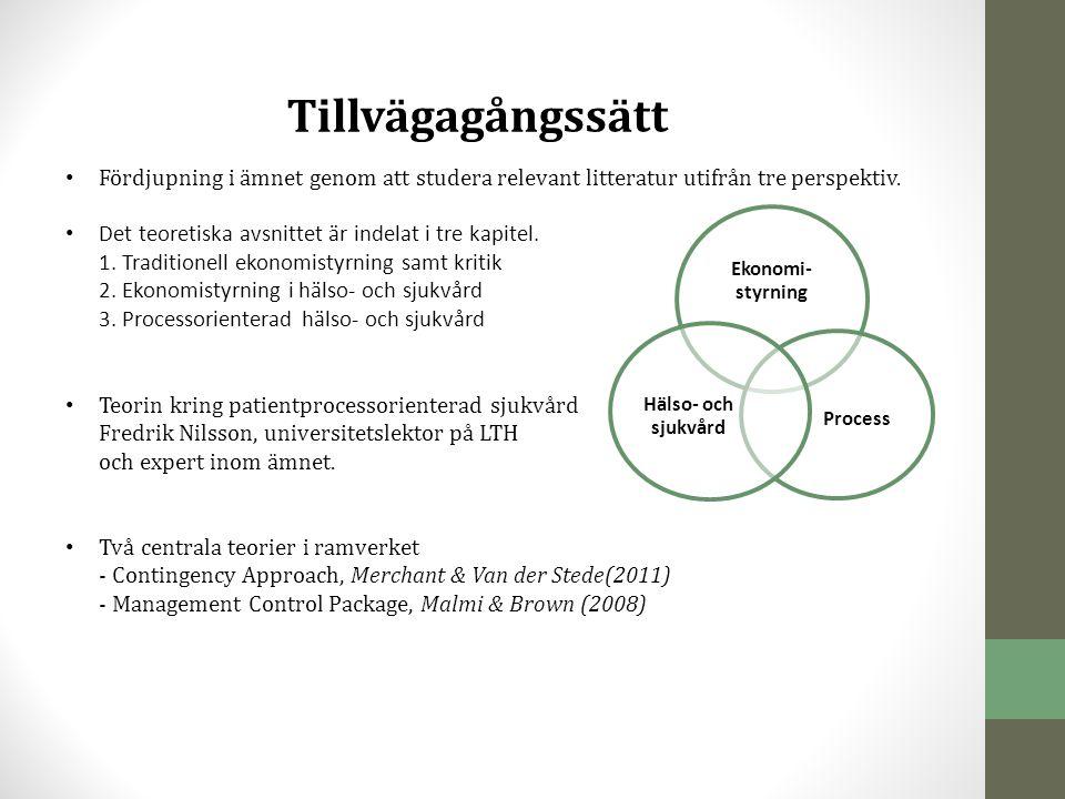 Resultat Antal verktyg hos respektive sjukhus Capio S:t Göran: 6 stycken KPI, Lean, Kvalitetsstyrkort, Synken, Benchmarking & KPP.