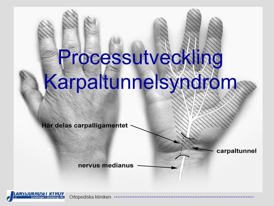Ortopediska kliniken Processutveckling Karpaltunnelsyndrom