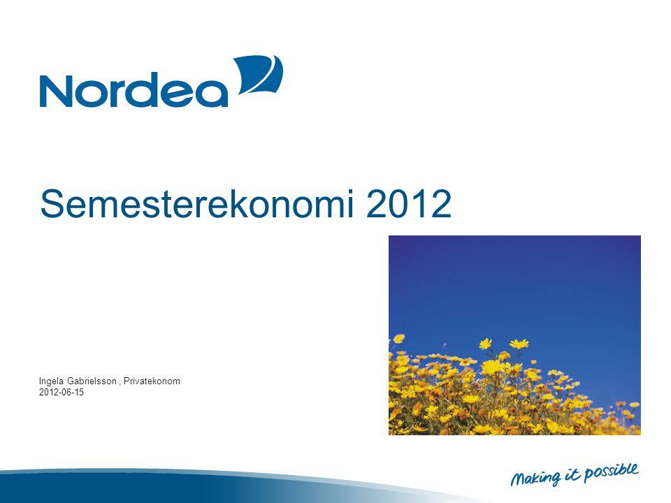 Semesterekonomi 2012 Ingela Gabrielsson, Privatekonom 2012-06-15