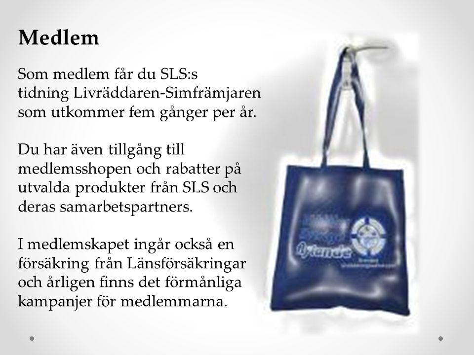Medlem Som medlem får du SLS:s tidning Livräddaren-Simfrämjaren som utkommer fem gånger per år. Du har även tillgång till medlemsshopen och rabatter p