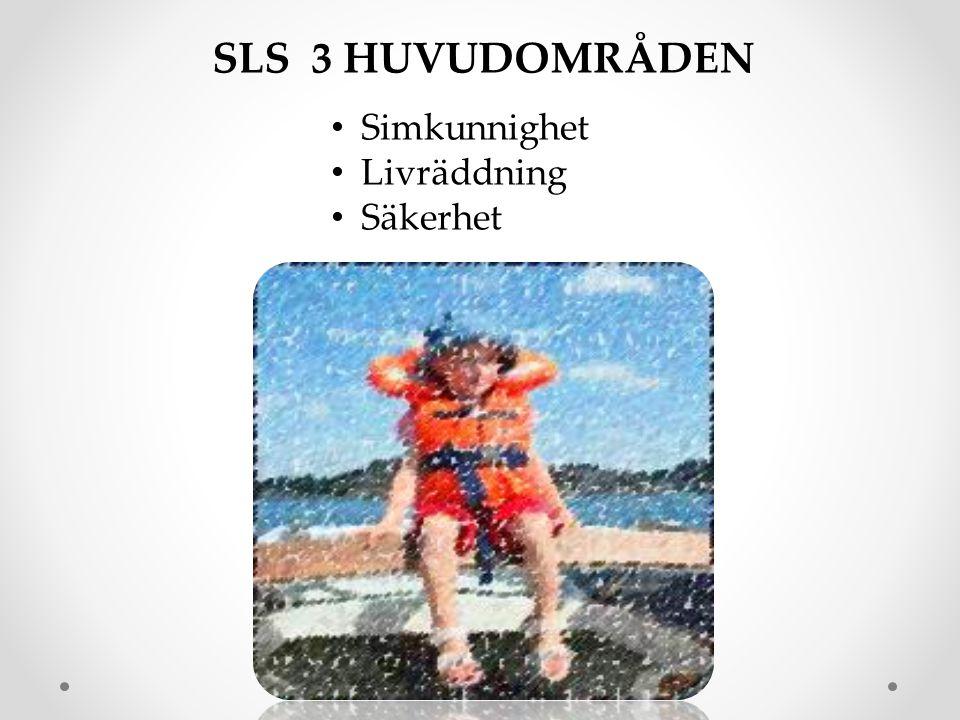 • Simkunnighet • Livräddning • Säkerhet SLS 3 HUVUDOMRÅDEN