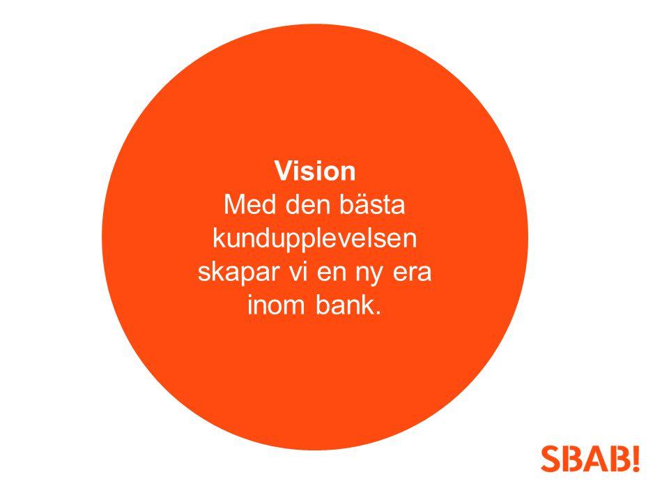 Vision Med den bästa kundupplevelsen skapar vi en ny era inom bank.