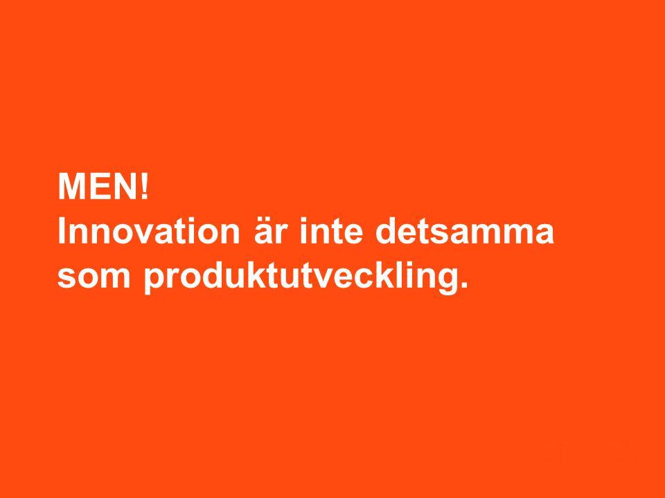 MEN! Innovation är inte detsamma som produktutveckling.