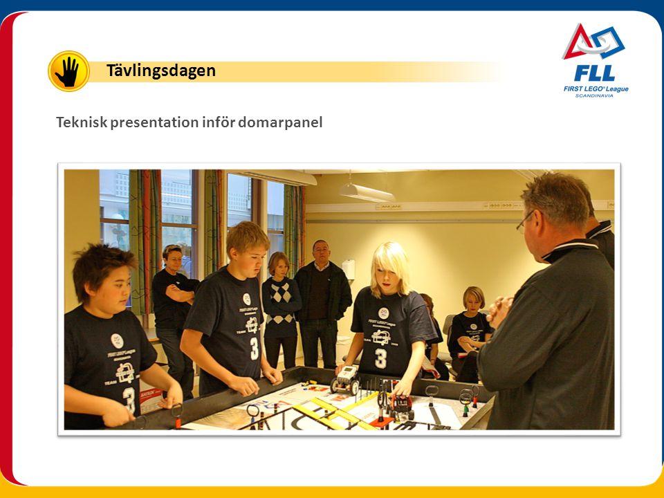 Teknisk presentation inför domarpanel Tävlingsdagen