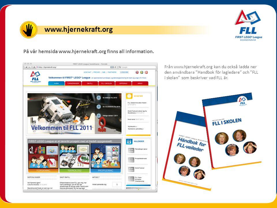 """På vår hemsida www.hjernekraft.org finns all information. Från www.hjernekraft.org kan du också ladda ner den användbara """"Handbok för lagledare"""" och """""""