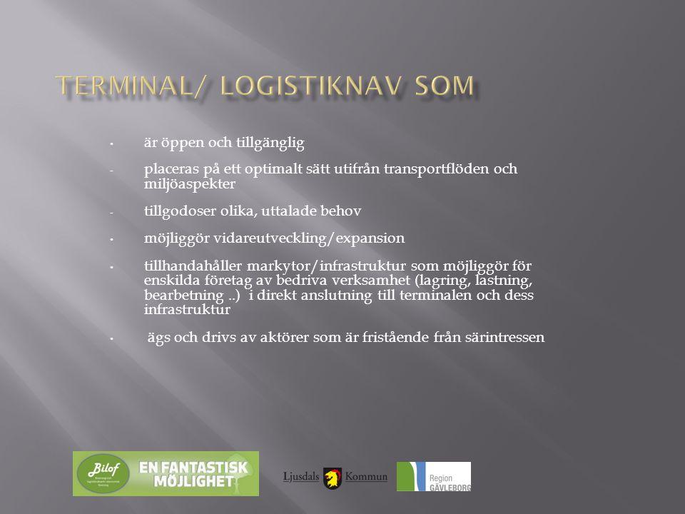 Skaraborg Logistic Center i Falköping … en terminal i kommunal regi, med stöd av statliga pengar.