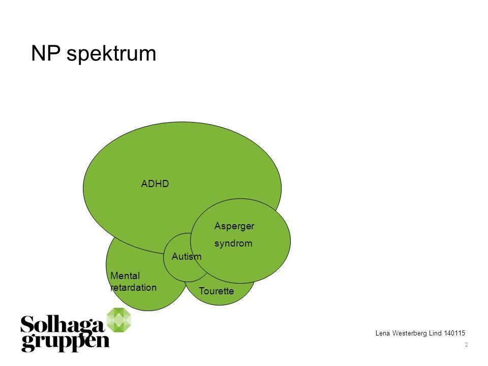 2 NP spektrum ADHD Asperger syndrom Autism Tourette Mental retardation Lena Westerberg Lind 140115