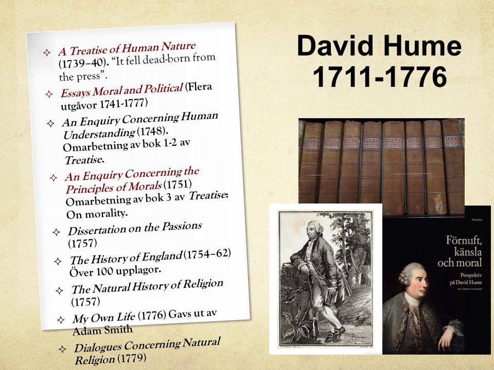 Filosofi är en vetenskap men inte en exakt sådan utan en historiskt grundad undersökning av den mänskliga naturen.