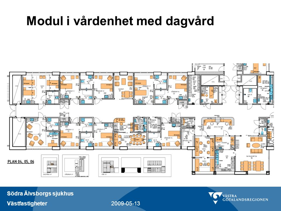 Södra Älvsborgs sjukhus Västfastigheter 2009-05-13 Modul i vårdenhet med dagvård