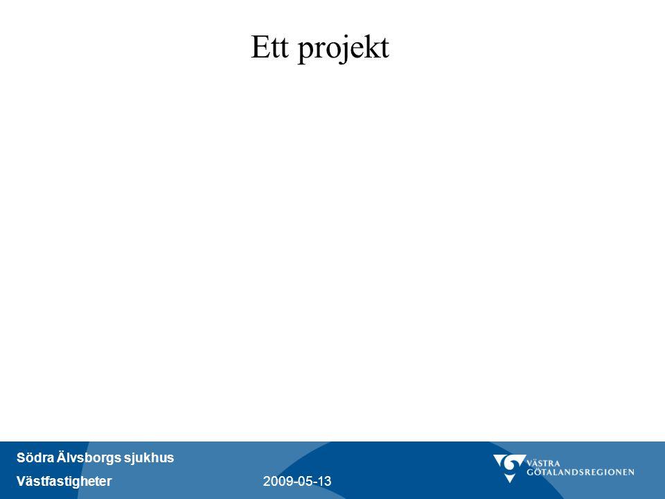 Södra Älvsborgs sjukhus Västfastigheter 2009-05-13 Ett projekt