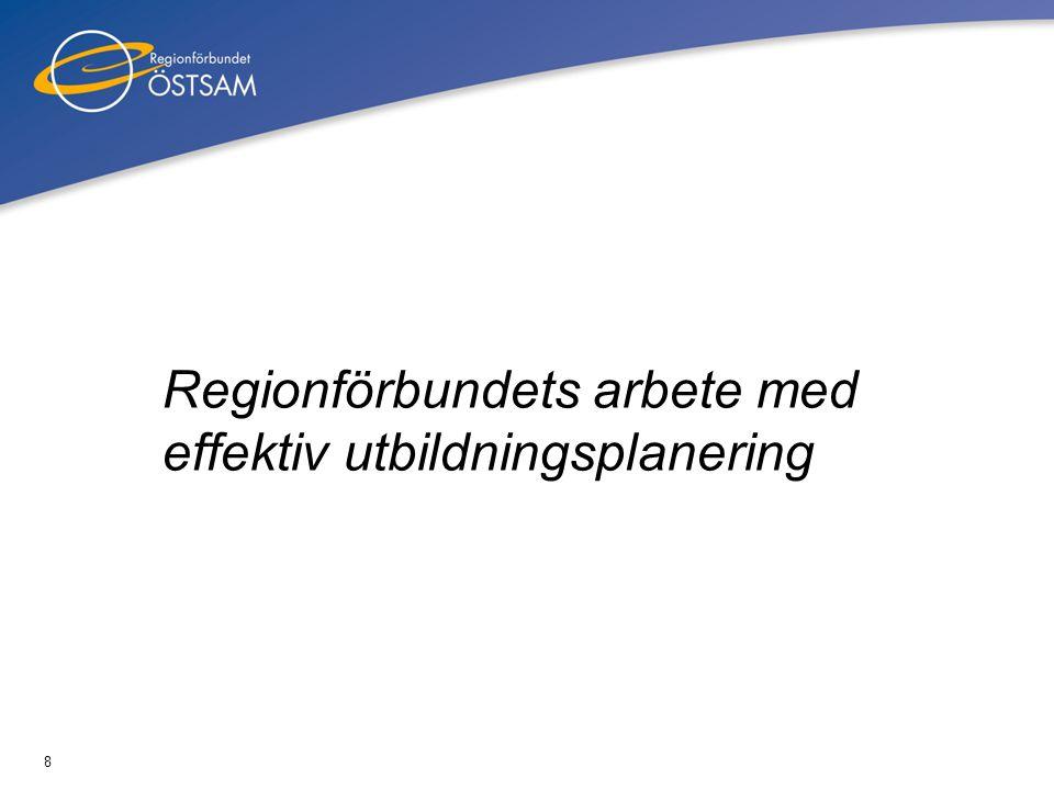 8 Regionförbundets arbete med effektiv utbildningsplanering