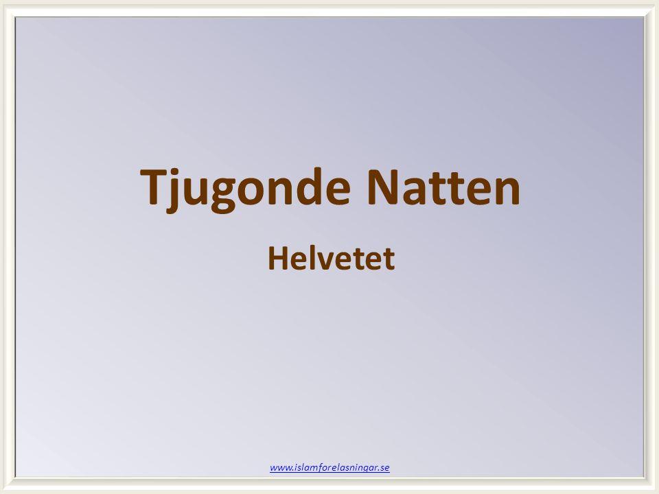 www.islamforelasningar.se Tjugonde Natten Helvetet