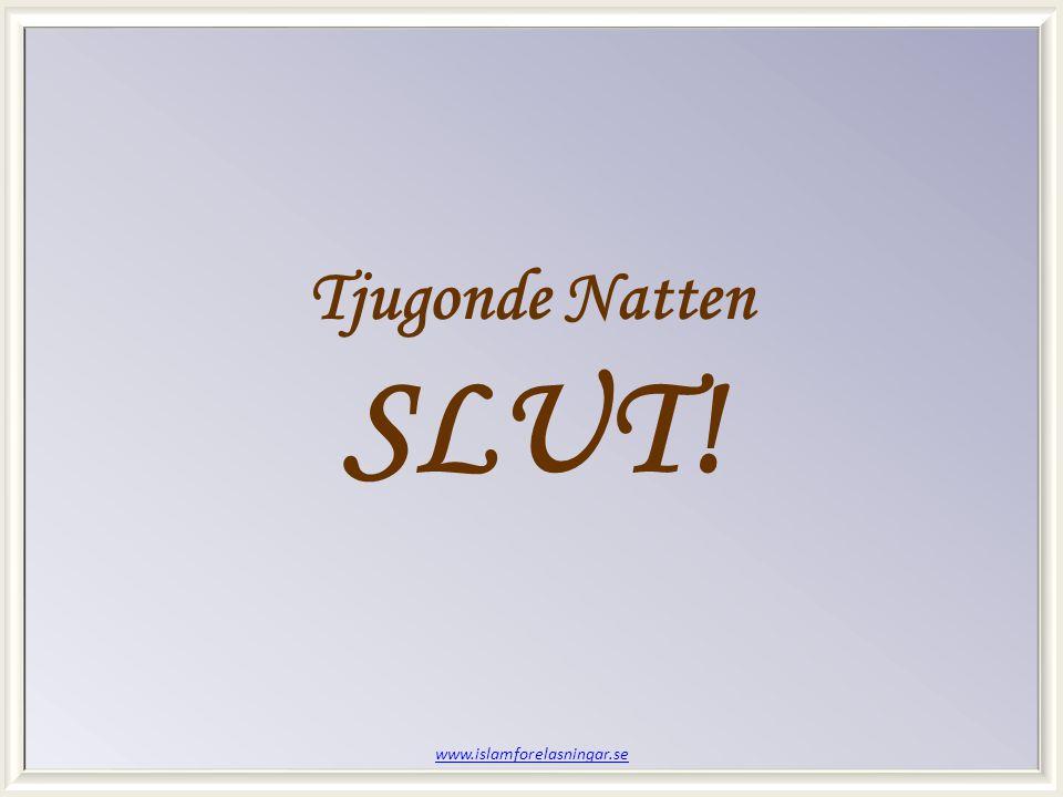 www.islamforelasningar.se Tjugonde Natten SLUT!