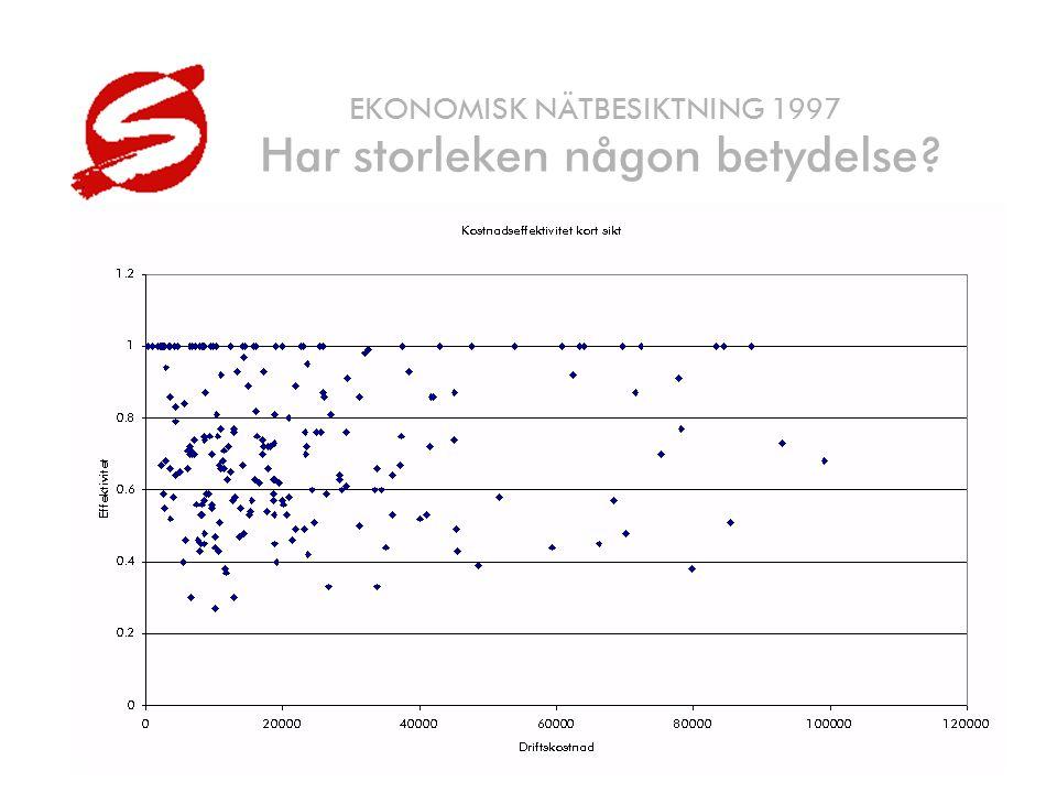 © SUMICSID HB25 EKONOMISK NÄTBESIKTNING 1997 Har storleken någon betydelse?