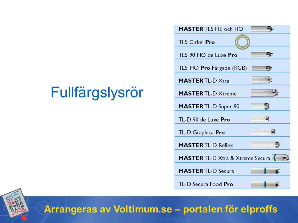 Arrangeras av Voltimum.se – portalen för elproffs Fullfärgslysrör
