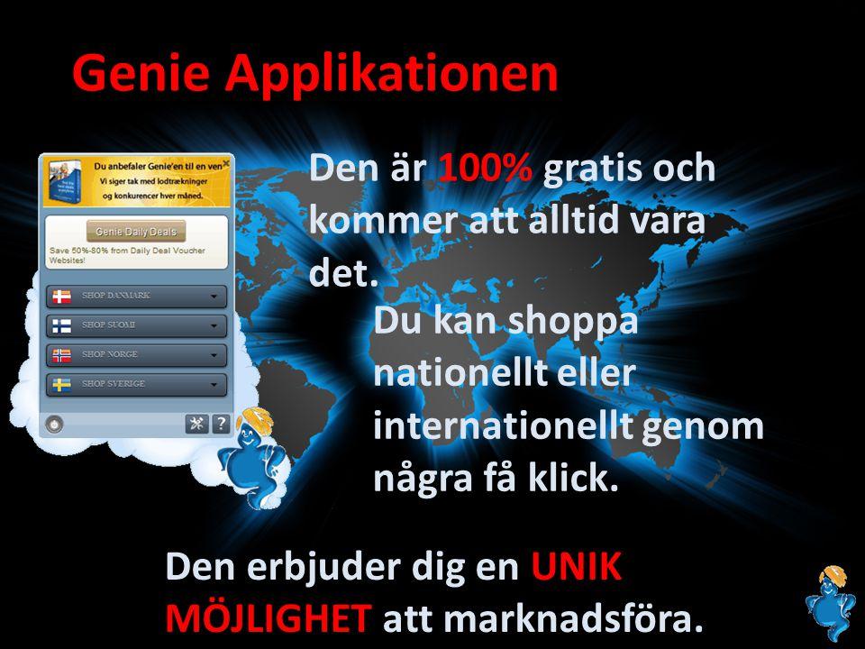 Genie Applikationen Den är 100% gratis och kommer att alltid vara det. Du kan shoppa nationellt eller internationellt genom några få klick. Den erbjud