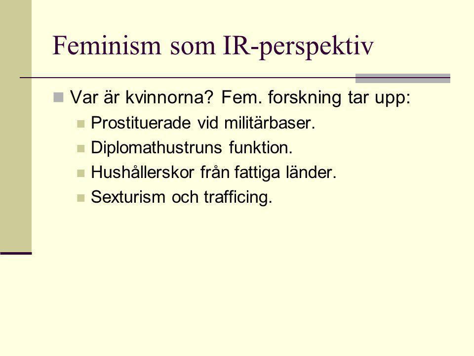 Feminism som IR-perspektiv  Var är kvinnorna.Fem.