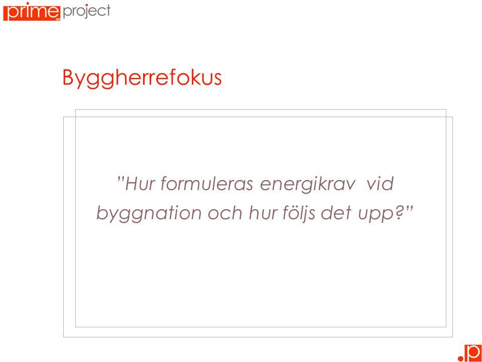 """Byggherrefokus """"Hur formuleras energikrav vid byggnation och hur följs det upp?"""""""