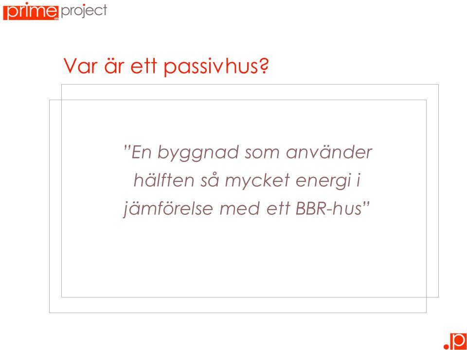 """Var är ett passivhus? """"En byggnad som använder hälften så mycket energi i jämförelse med ett BBR-hus"""""""