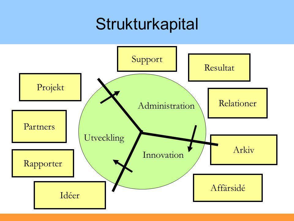 Strukturkapital Support Affärsidé Projekt Idéer Relationer Arkiv Resultat Partners Administration Innovation Utveckling Rapporter