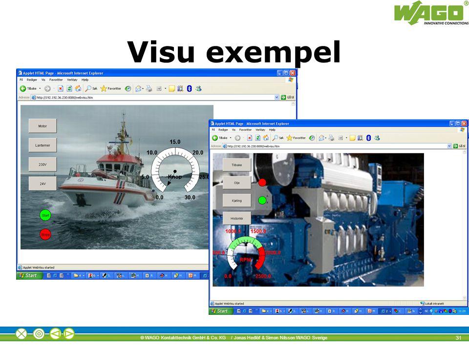 © WAGO Kontakttechnik GmbH & Co. KG / Jonas Hedlöf & Simon Nilsson WAGO Sverige 31 Visu exempel