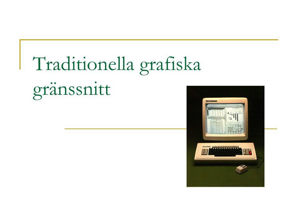 Traditionella grafiska gränssnitt