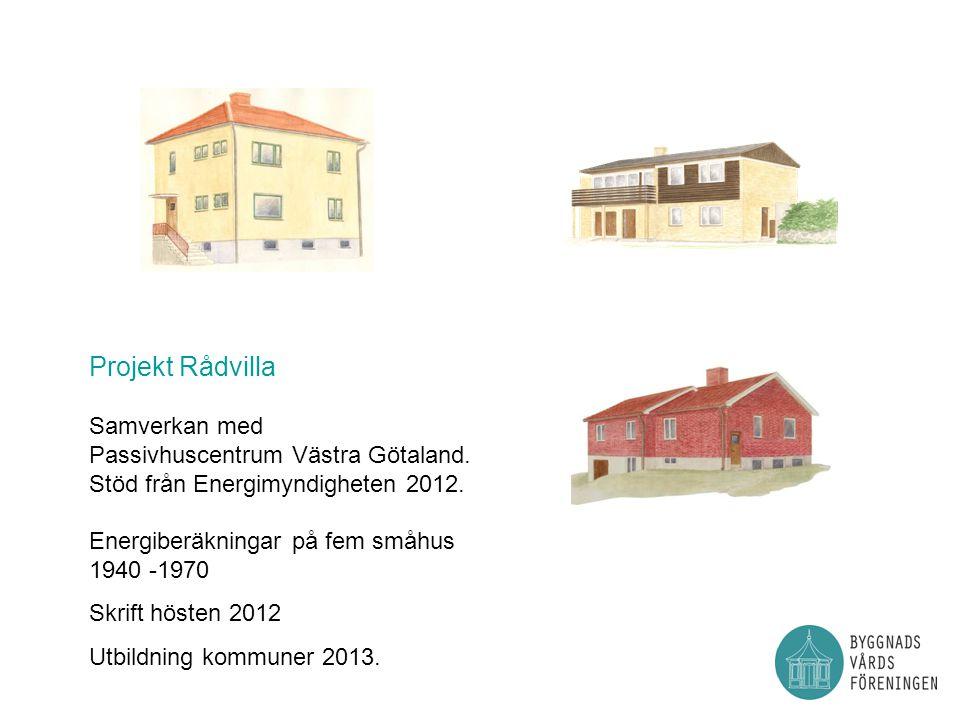 Projekt Rådvilla Samverkan med Passivhuscentrum Västra Götaland.