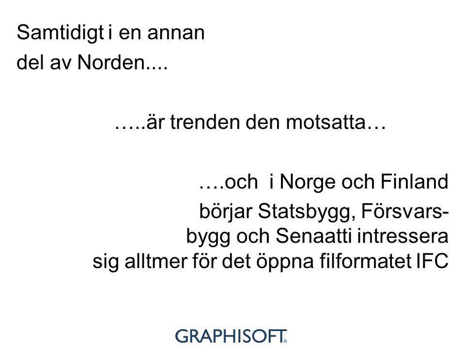 Samtidigt i en annan del av Norden.... …..är trenden den motsatta… ….och i Norge och Finland börjar Statsbygg, Försvars- bygg och Senaatti intressera