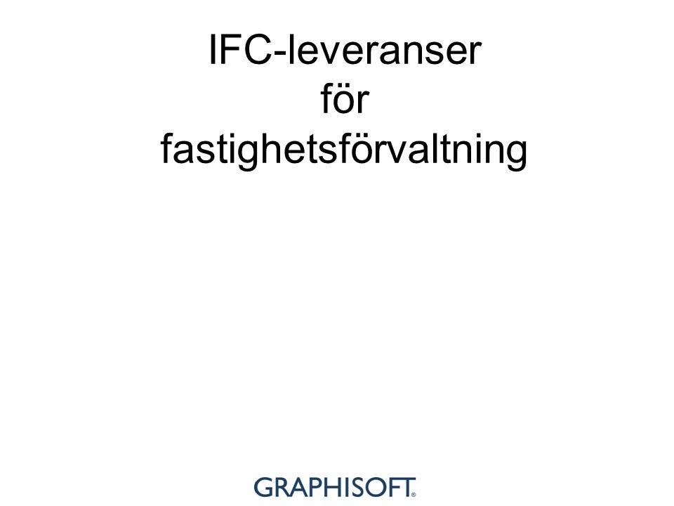 IFC-leveranser för fastighetsförvaltning