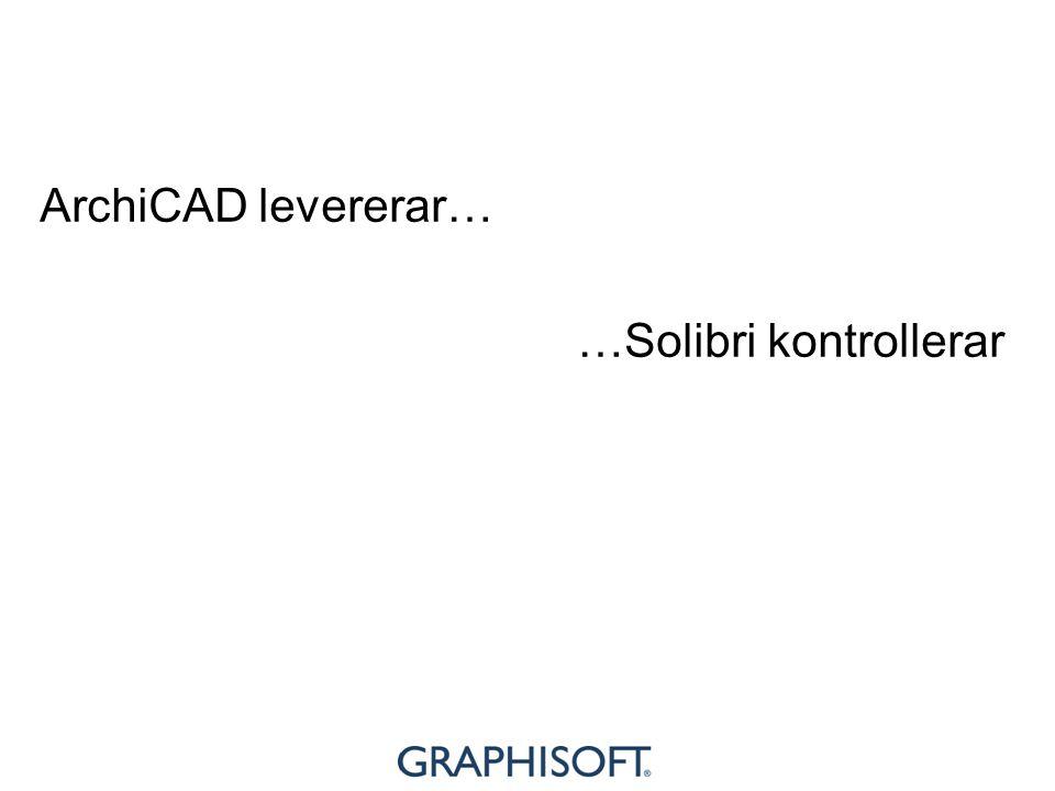 ArchiCAD levererar… …Solibri kontrollerar