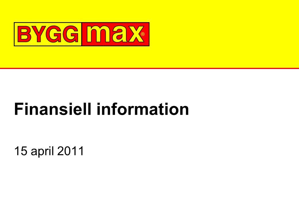 Finansiell information 15 april 2011