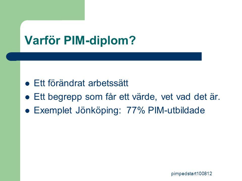 pimpedstart100812 Varför PIM-diplom.