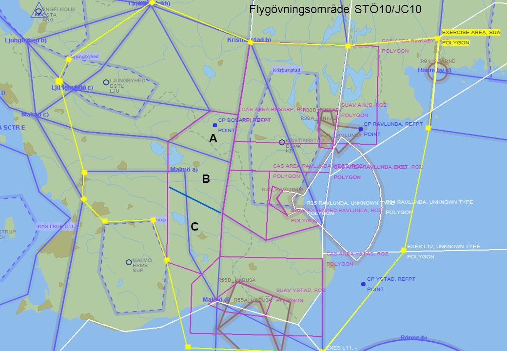 HÖGKVARTERET Flygövningsområde STÖ10/JC10 A B C